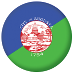 Augusta (Maine) Flag 58mm Mirror Keyring